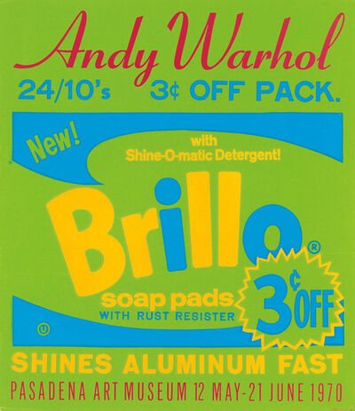 Andy Warhol, 'Warhol Brillo Poster for The Pasadena Art Museum', 1970