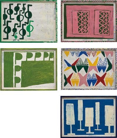 Tal R, 'Five works: i) Swindle; ii) Walk is no Waltz; iii) Signor March; iv) Neu Mutter March; v) Double Gate', Each 2015