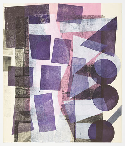 Austin Thomas, 'Fading pink, High Purple, White Shapes', 2019