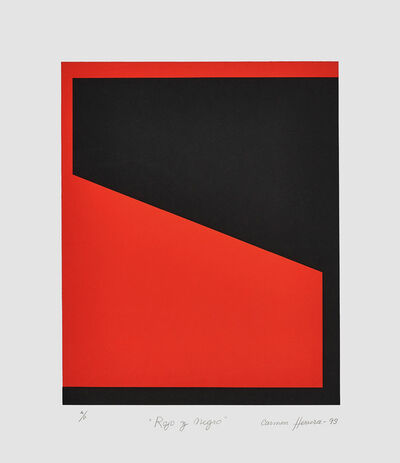 Carmen Herrera, 'Rojo y Negro (Red and Black)', 1993