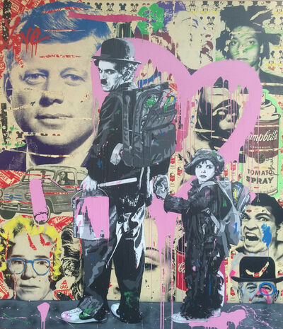Mr. Brainwash, 'Charlie Chaplin and Kid', 2011