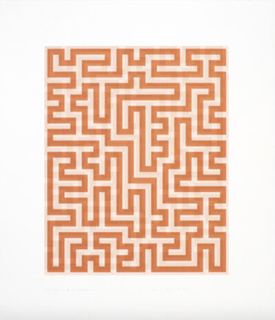 Anni Albers, 'Red Meander II', 1970