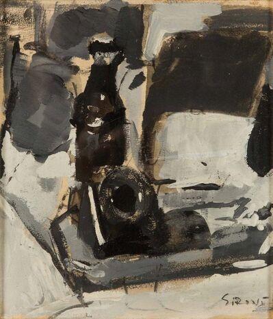 Mario Sironi, 'Composizione con bottiglia e calamaio', metà anni '20