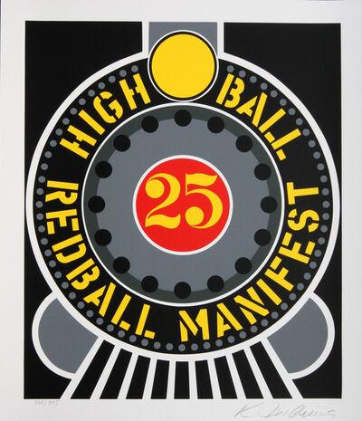 Robert Indiana, 'Highball on Redball Manifest ', 1998