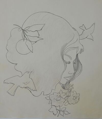 Andy Warhol, 'Untitled (Woman with Flowers and Birds)', ca. 1956