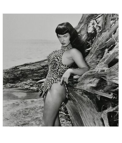 Bunny Yeager, 'Bettie Page with Driftwood, Key Biscayne, FL', 1954