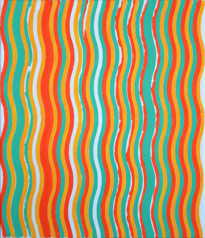 MARTIN GALLE, 'Stripe Painting-Crab', 2017