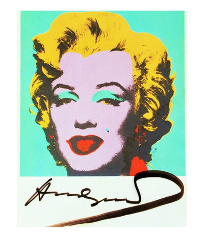 Andy Warhol, ''Marilyn', Signed, MoMA Postcard ', 1980-1987