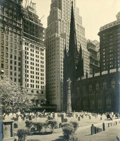 Samuel Gottscho, 'Trinity Churchyard', 1933