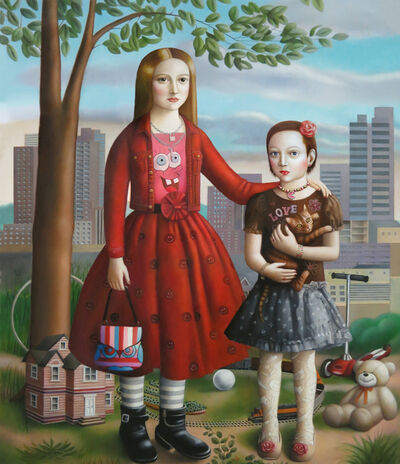 Amy Hill, 'Two Girls'