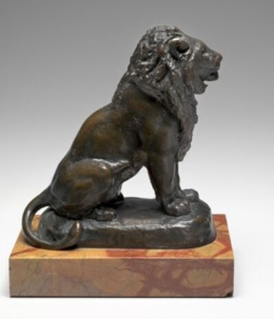 Antoine-Louis Barye, 'Seated Lion', model c. 1846-cast after 1870