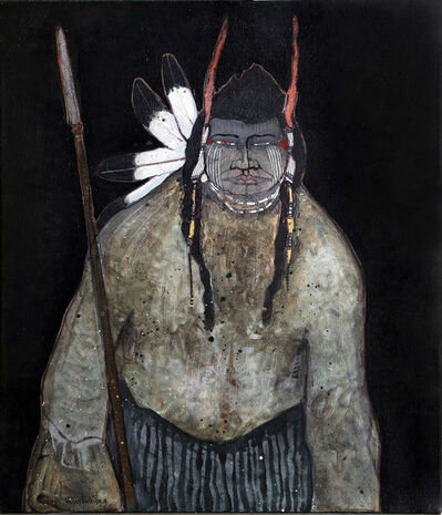 Kevin Red Star, 'Crow Indian with Spear', 1979