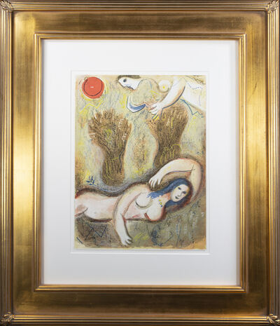 Marc Chagall, 'Booz se réveille et voit Ruth à ses Pieds (Boaz Wakes Up and Sees Ruth at his Feet), M 249/272', 1960
