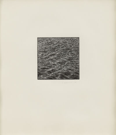 Vija Celmins, 'Untitled (Ocean Woodcut)', 1995
