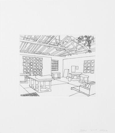 Jonas Wood, 'Bball Studio (Print, Book & Bag)', 2019