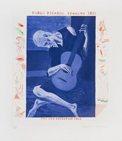 David Hockney, 'The Old Guitarist, from The Blue Guitar portfolio', 1977