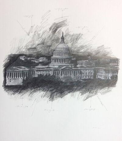 Grover Mouton, 'United States Capitol, Study #1', 2014