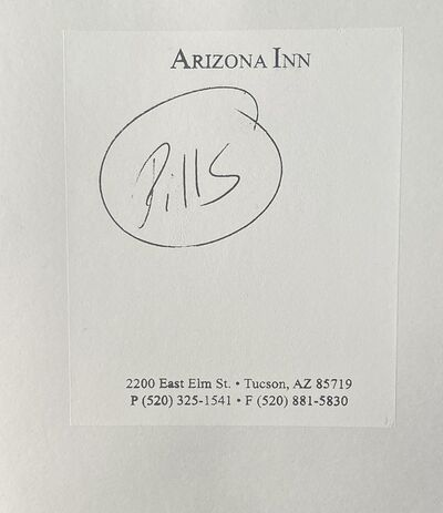 Jeffrey Teuton, 'Untitled (Pills - Arizona Inn)', 2019