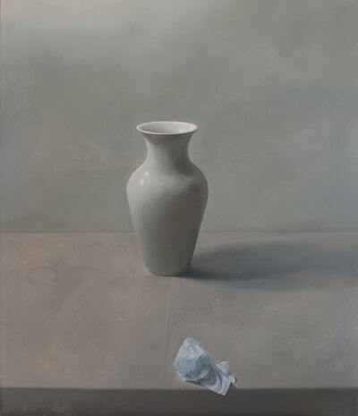 Vivian van der Merwe, '[P157]12/19 Still-life with Berliner Vase & Paper'
