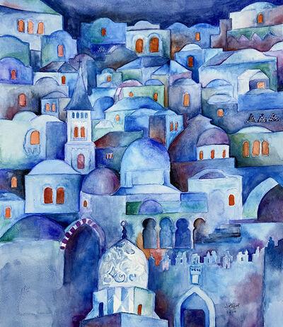 Hosni Radwan, 'Blue Jerusalem', 2019