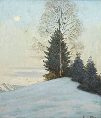 Ludwig Meister, 'Wald im winter (Forest in winter)'
