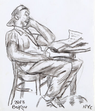 Konstantin Bokov, 'Man Reading Paper', 2013