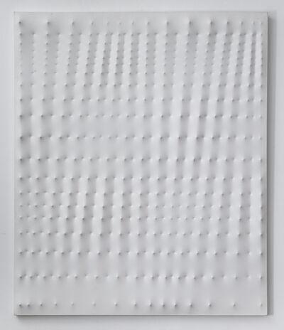 Enrico Castellani, 'Superficie bianca', 1983