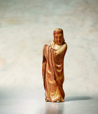 Unknown Artist, 'An Ivory Standing Model of Bodhidharma 明15世紀 象牙菩提達摩立像', China: Ming Dynasty-15th century