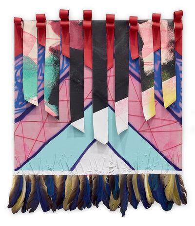 Sarah Cain, 'Untitled (ribbon weave)', 2014