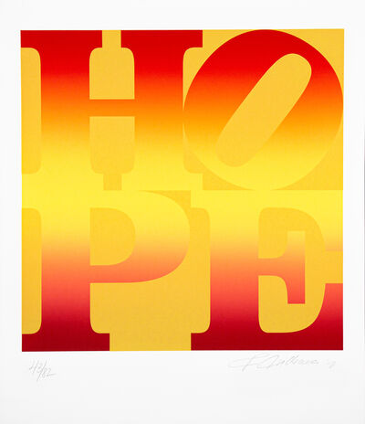 Robert Indiana, 'Four Seasons of Hope: A Classic Suite of Interpretive Silkscreen Prints - Gold 43/82', 2012