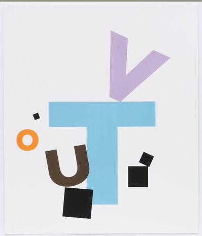 Kay Rosen, 'Stilllife with Blue Table (Earth Quake)', 2007