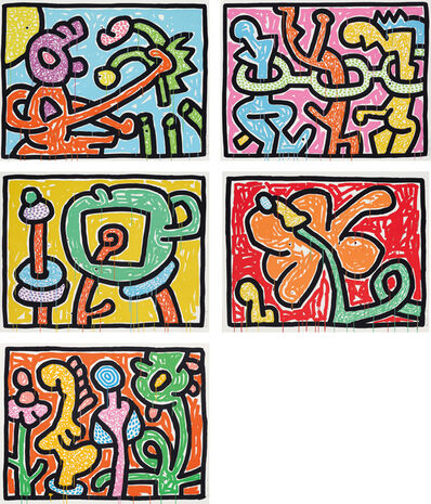 Keith Haring, 'Flowers', 1990