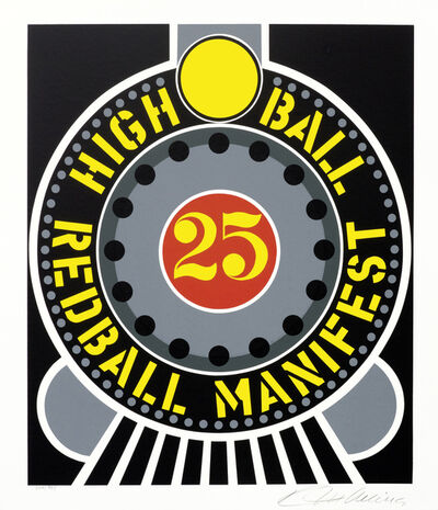 Robert Indiana, 'High Ball Red Ball Manifest from the American Dream Portfolio', 1997