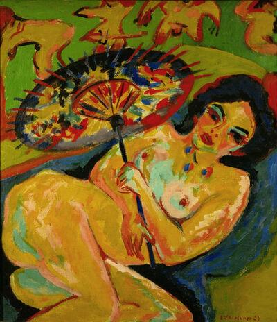 Ernst Ludwig Kirchner, 'Mädchen unter Japanschirm (Girl under a Japanese Umbrella)', 1909