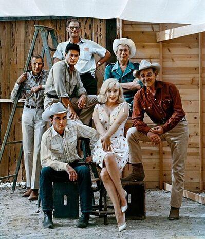 Elliott Erwitt, 'Frank Taylor, Montgomery Clift, Eli Wallach, Arthur Miller, Marilyn Monroe, John Huston and Clark Gable on the Set of 'The Misfits', Reno, Nevada', 1960