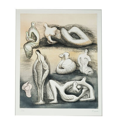 Henry Moore, 'Seven Sculpture Ideas Ii', 1980