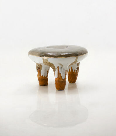 Lee Hun Chung, 'Glazed ceramic stool with gold leaf. Designed and made by Hun Chung Lee, Korea, 2016.', 2016