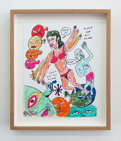Daniel Johnston, 'Lust And All Alone', 2009