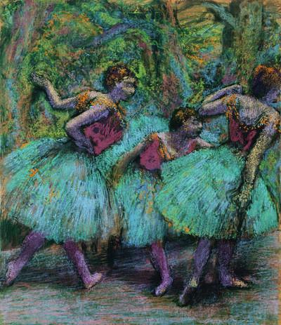 Edgar Degas, 'Trois danseuses (jupes bleues, corsages rouges) (Three Dancers, Blue Tutus, Red Bodices)', ca. 1903