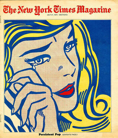 "Roy Lichtenstein, 'Roy Lichtenstein New York Times Magazine 1974, ""Persistent Pop"" (After Roy Lichtenstein)', 1974"