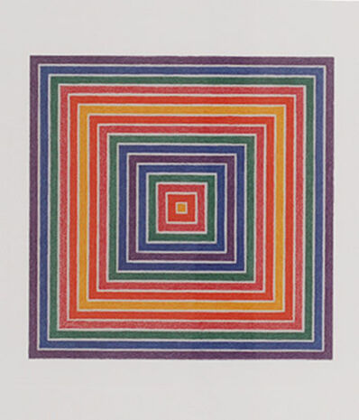 "Frank Stella, '""Honduras Lottery"" Lithograph', 1972"