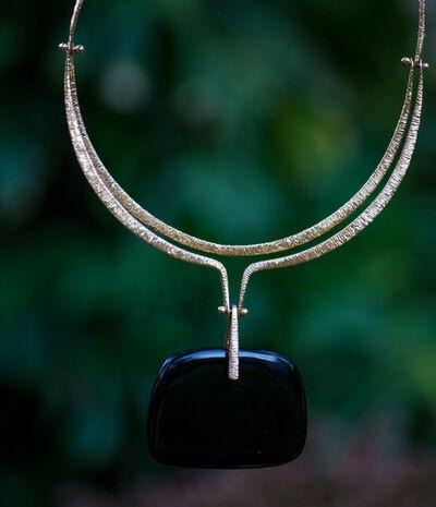 Lisa Eisner, 'Black Jade Rectangle Collar', 2016