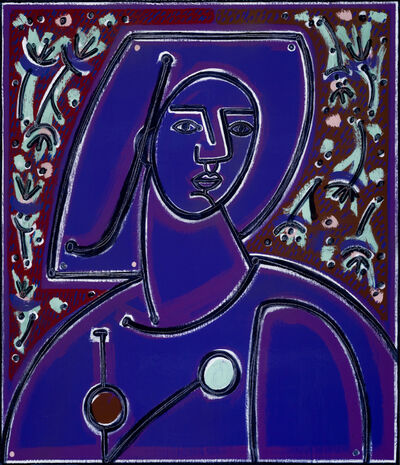America Martin, 'Woman in Blues and Purples', 2020