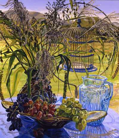 Janet Fish, 'Grasses and Blue Bird Cage ', 2005
