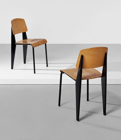 "Jean Prouvé, 'Two ""Semi-metal"" chairs, model no. 305', 1950-1969"