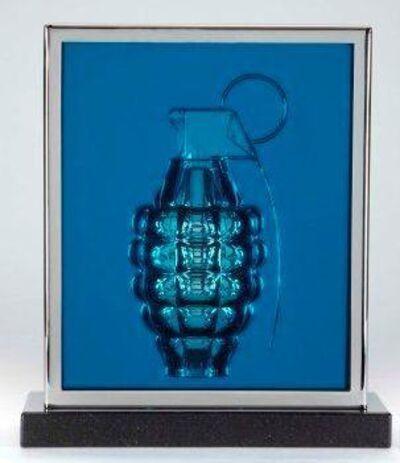 Mauro Perucchetti, '    Pow (Slab Desk Top)- Turquoise'