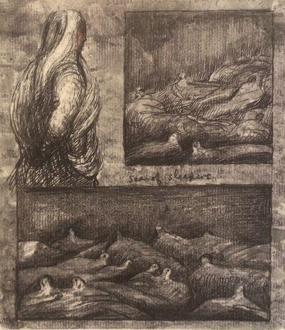 Henry Moore, 'Untitled XXXVI (Shelter Sketchbook)', 1967