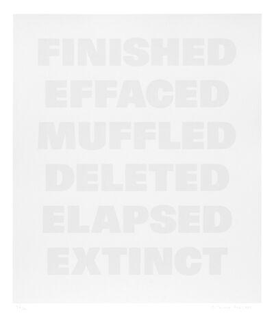 Remy Zaugg, 'Untitled (E)', 1986-1994