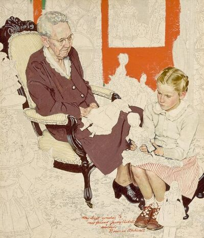 Norman Rockwell, 'Study for 'Grandma's Doll Collection'', 1948