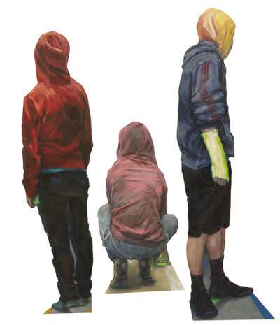 Gillian Iles, 'Hoodies (group of 3 individual figure sculptures)', 2015